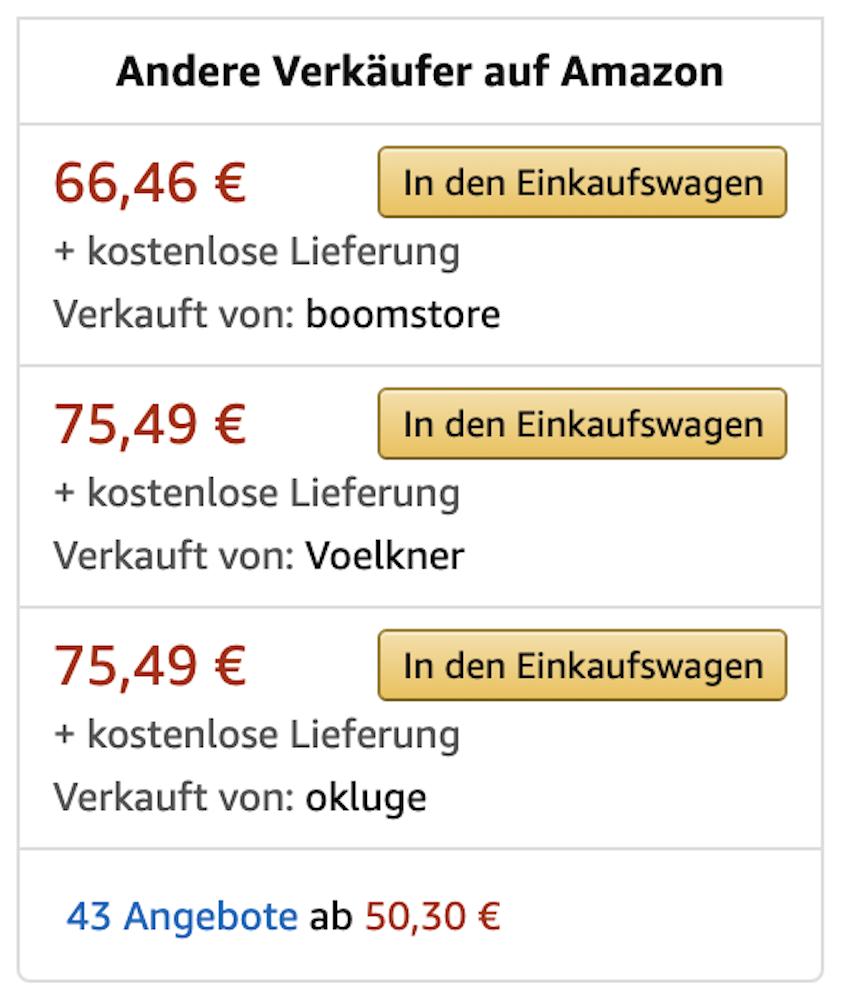 Viele Händler, die den Preis nicht optimieren, landen auf Amazon nicht in der Buy Box.