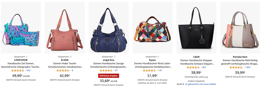 Amazon Advertising bietet beispielsweise Sponsored Products.