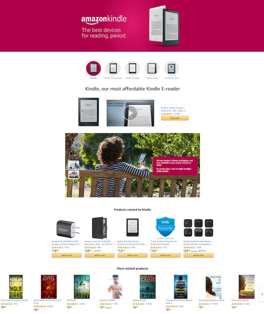 Amazon PPC stellt ein Tool zum Bauen von Landing Pages bereit.