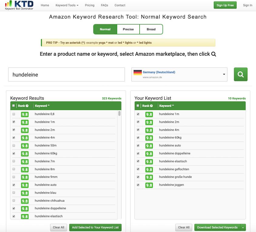 Keyword Tool Dominator für Amazon