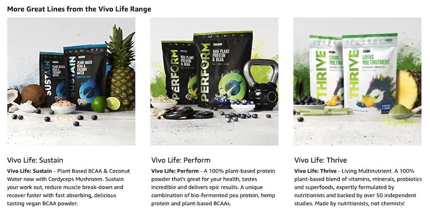 Amazon A plus content for supplements.