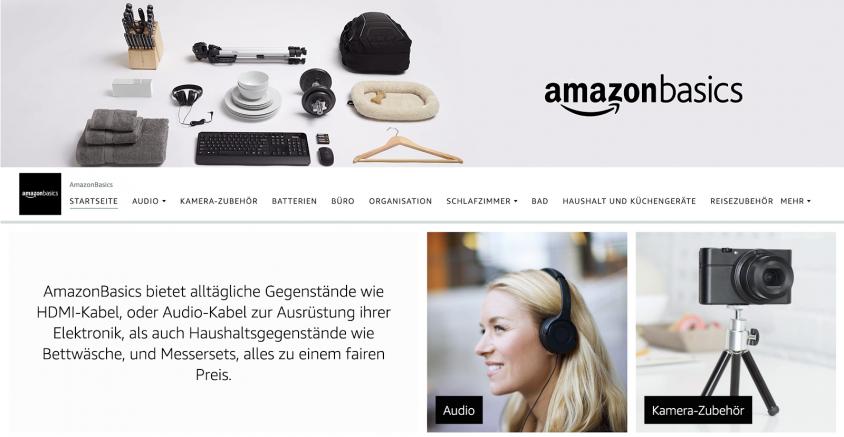Brand Store Amazon Basics