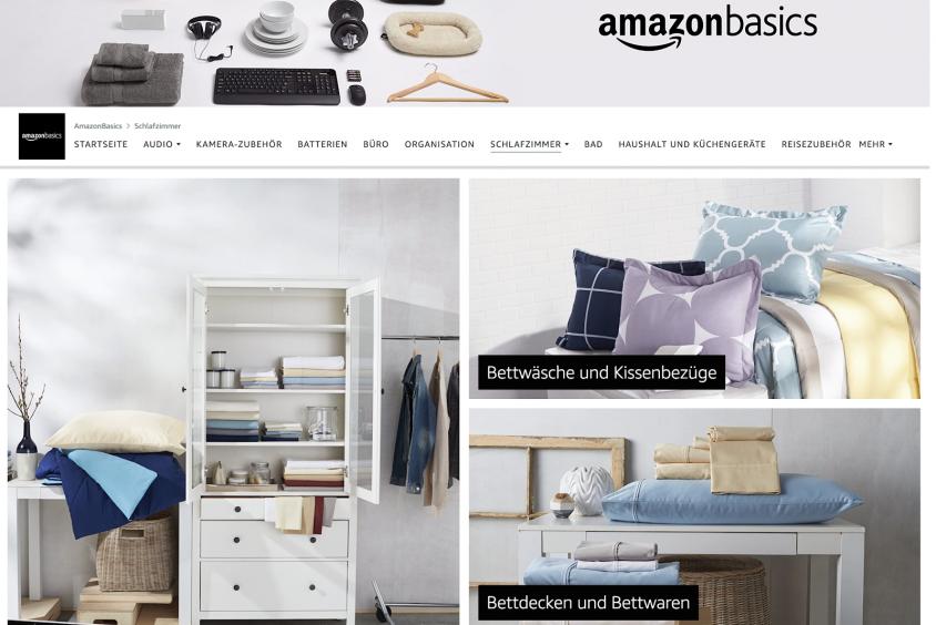 Brand Store Amazon Basics Beispiel 2